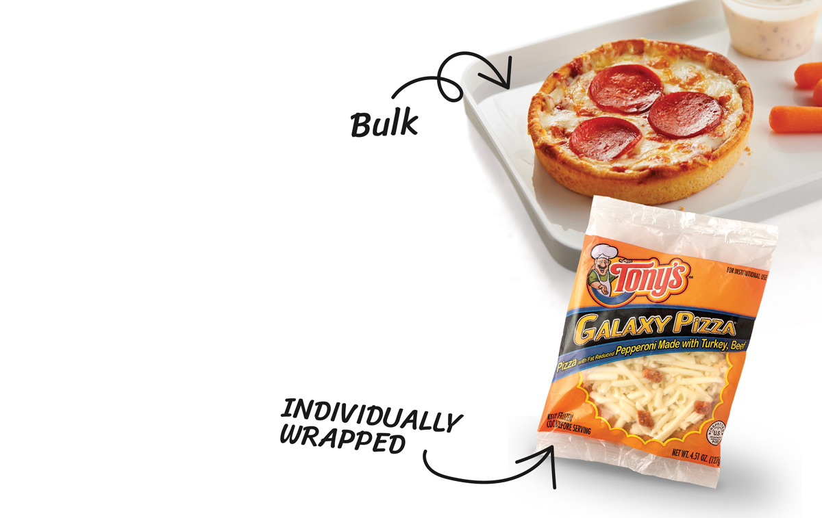 Individually Wrapped TONY'S® GALAXY TURKEY PEPPERONI and Bulk