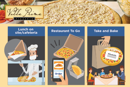 UP TO $180 REBATE ON TOPPED VILLA PRIMA® PIZZA