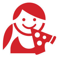 Icon: child enjoying pizza